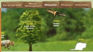 Unterstützungsunterschrift für Nationalpark Steigerwald